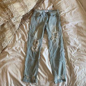 Free People Jeans - Light wash distressed boyfriend style jeans 24